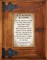 A Teacher's Blessing Framed Art