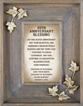 25th Anniversary Blessing Framed Art
