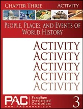People, Places, & Events of World History Chapter 3 Activities