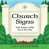 2017 Church Signs Day To Day Calendar