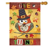 Give Thanks Owl Flag, Large