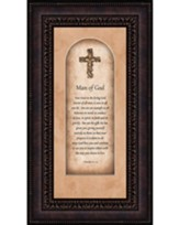 Man of God, I Timothy 4:12-15, Framed Art
