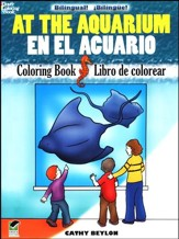At the Aquarium/En el Acuario, Bilingual Coloring Book