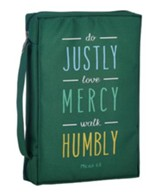 Do Justly, Love Mercy, Walk Humbly Bible Cover, Large