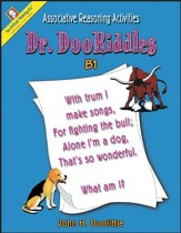 Dr. DooRiddles Associative Reasoning  Activities Grades 4-6 Ability Book B1