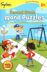 Second Grade Word Puzzles (Sylvan Activity Books)
