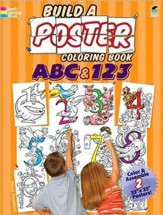 Build a Poster Coloring Book-ABC & 123