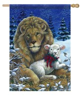 Lion & Lamb Flag, Large