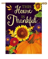 This House Is Thankful Flag, Large