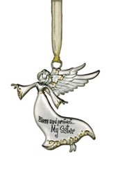 Bless and Protect... My Sister Guardian Angel Ornament