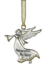 Bless and Protect... My Niece Guardian Angel Ornament