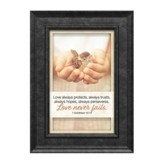 Love Always Protects, Always Trusts, 1 Corinthians 13:7-8, Framed Art