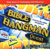 Bible Hangman Quest Game on CD-ROM  - Slightly Imperfect