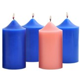 Advent Pillar Candle Set/ 3 blue, 1 pink (3 x 6)