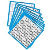 Hundred Number Board - Numbered 1-100 Set of 10   (Laminated)