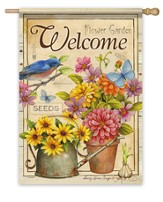 Welcome, Flowers Flag, Large