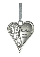 Brother, You Are Loved Heart Ornament