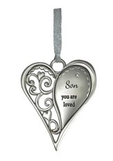 Son, You Are Loved Heart Ornament
