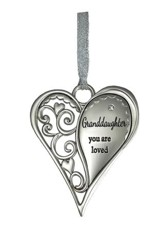 Granddaughter, You Are Loved Heart Ornament