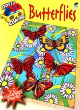 Butterflies, 3-D Coloring Book