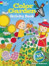 Color & Garden Activity Book with 50 Stickers!