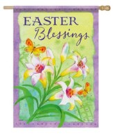 Easter Blessings, Large Flag