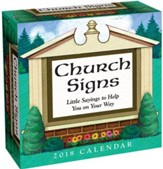 2018 Church Signs Day-To-Day Calendar