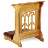 Canterbury Padded Kneeler, Oak Finish