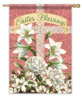 Easter Blessings Flag, Large