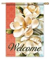 Welcome, Magnolia Bliss Flag, Large
