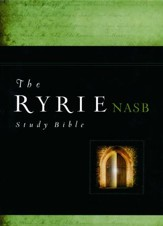 Ryrie NAS Study Bible Genuine Leather Black, Red Letter, Indexed - Imperfectly Imprinted Bibles