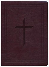 Ryrie NAS Study Bible Soft Touch Burgundy, Red Letter, Indexed - Imperfectly Imprinted Bibles