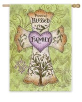 Forever Blessed Family Flag, Large