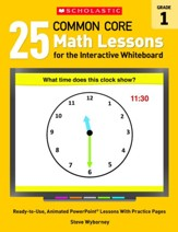 25 Common Core Math Lessons for the Interactive Whiteboard Grade 1