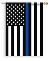 Thin Blue Line American Flag, Large