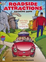 Roadside Attractions Coloring Book: Weird and Wacky Landmarks from Across the USA!