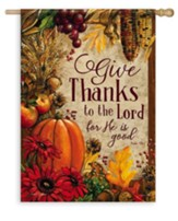 Give Thanks, Lords Bounty Flag, Large
