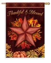 Thankful & Blessed Flag, Large