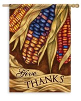 Give Thanks, Harvest Corn Flag, Large