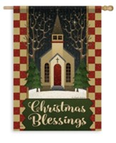 Christmas Blessings, Church Flag, Large