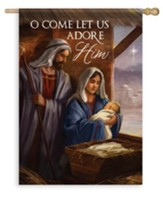 O Come Let Us Adore Him, Large Flag