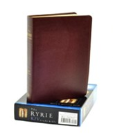 KJV Ryrie Study Bible Burgundy Genuine Leather Red Letter  - Imperfectly Imprinted Bibles