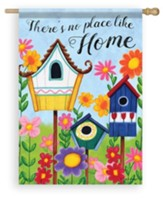 There's No Place Like Home, Birdhouses, Flag, Large