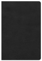 HCSB Ultrathin Reference Bible, Black LeatherTouch, Thumb-Indexed