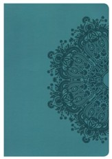 NKJV Giant Print Reference Bible, Teal LeatherTouch, Thumb-Indexed