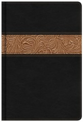 NKJV Reader's Bible, Black and Brown Bonded Leather