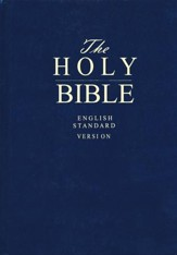 ESV Pew and Worship Bible, Large-print--hardcover, navy blue