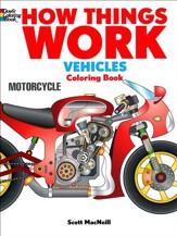 How Things Work Coloring Book - Vehicles