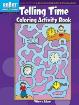 Telling Time Coloring Activity Book