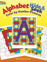 Alphabet Hide & Seek: Color by Number Pictures